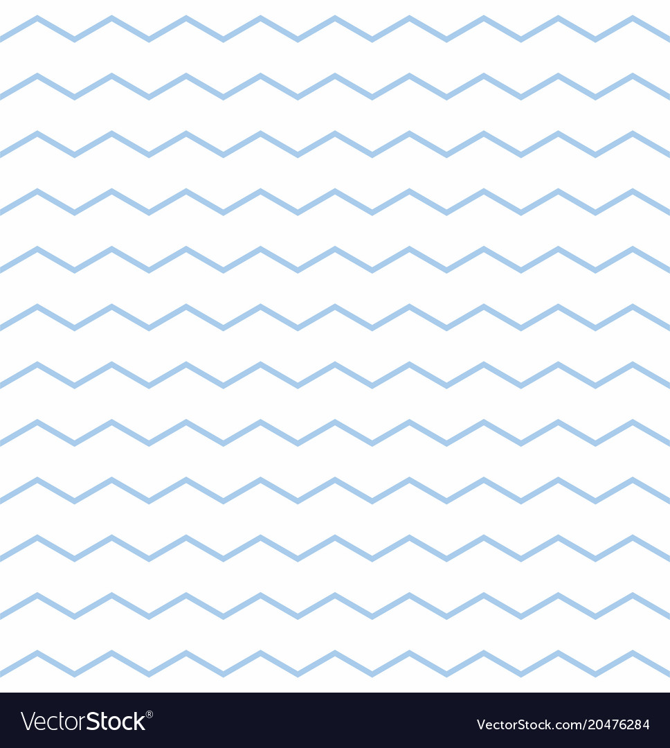 Tile pattern with pastel blue and white zig zag