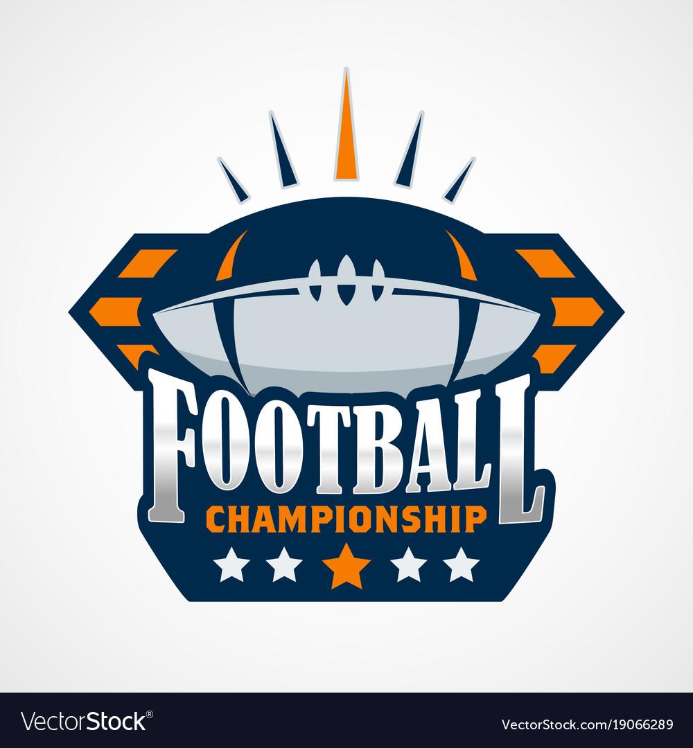 American football logo template design