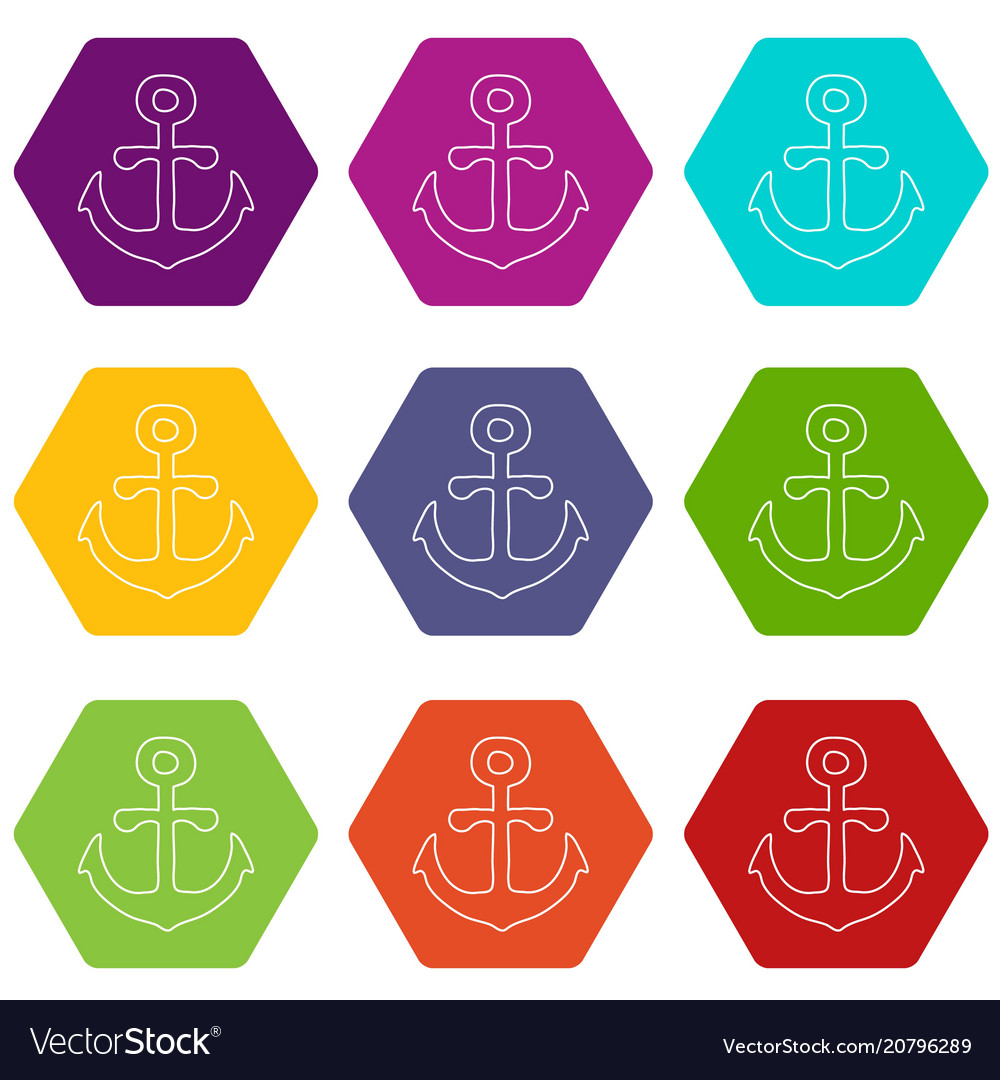 Anchor icons set 9