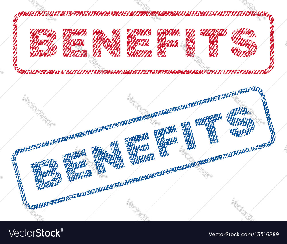 Benefits textile stamps