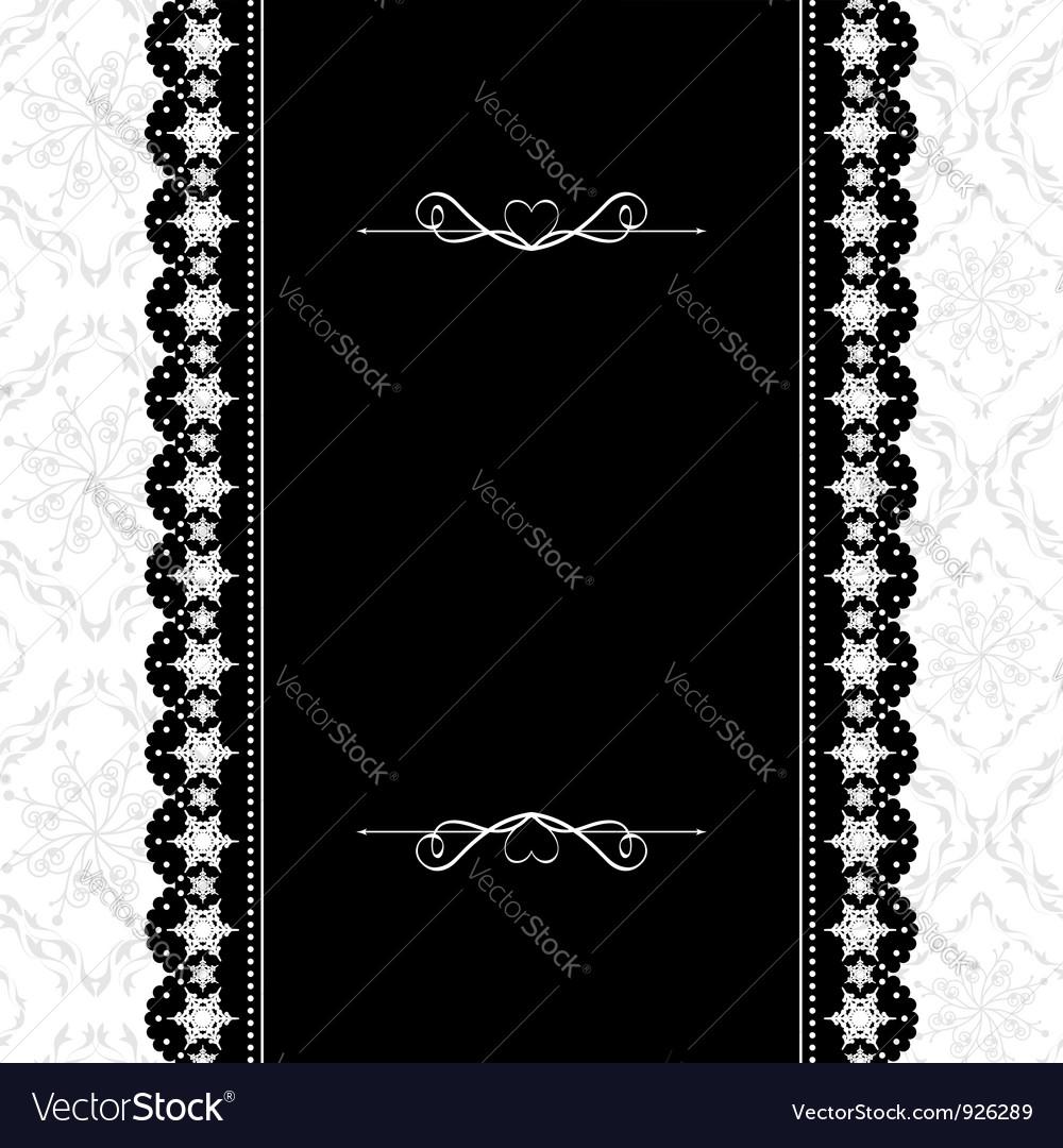 Card design vintage ornate frame
