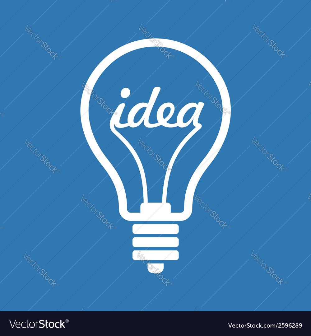 Creative Idea in Bulb Shape as Inspiration Concept
