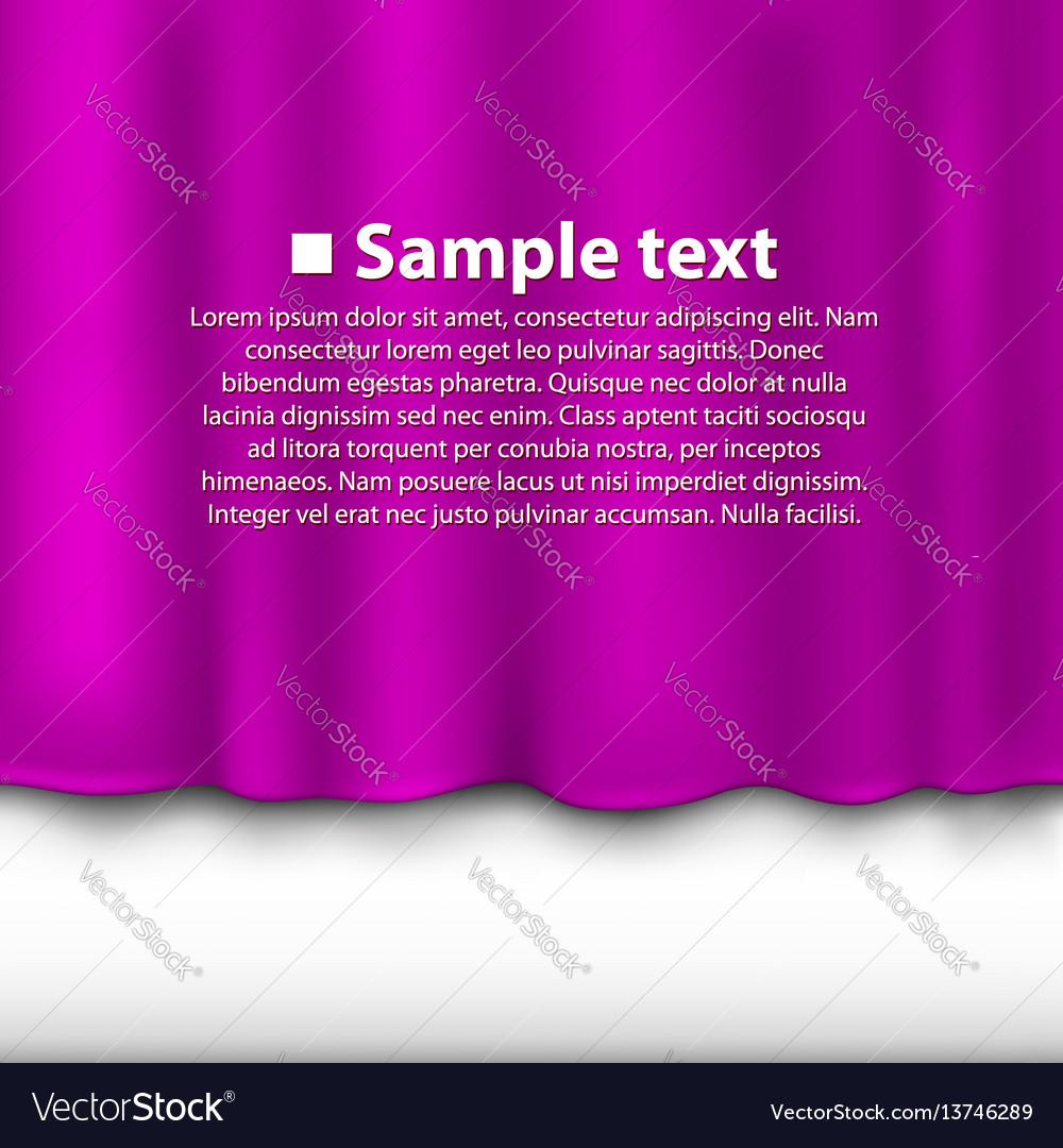 Curtain of purple color