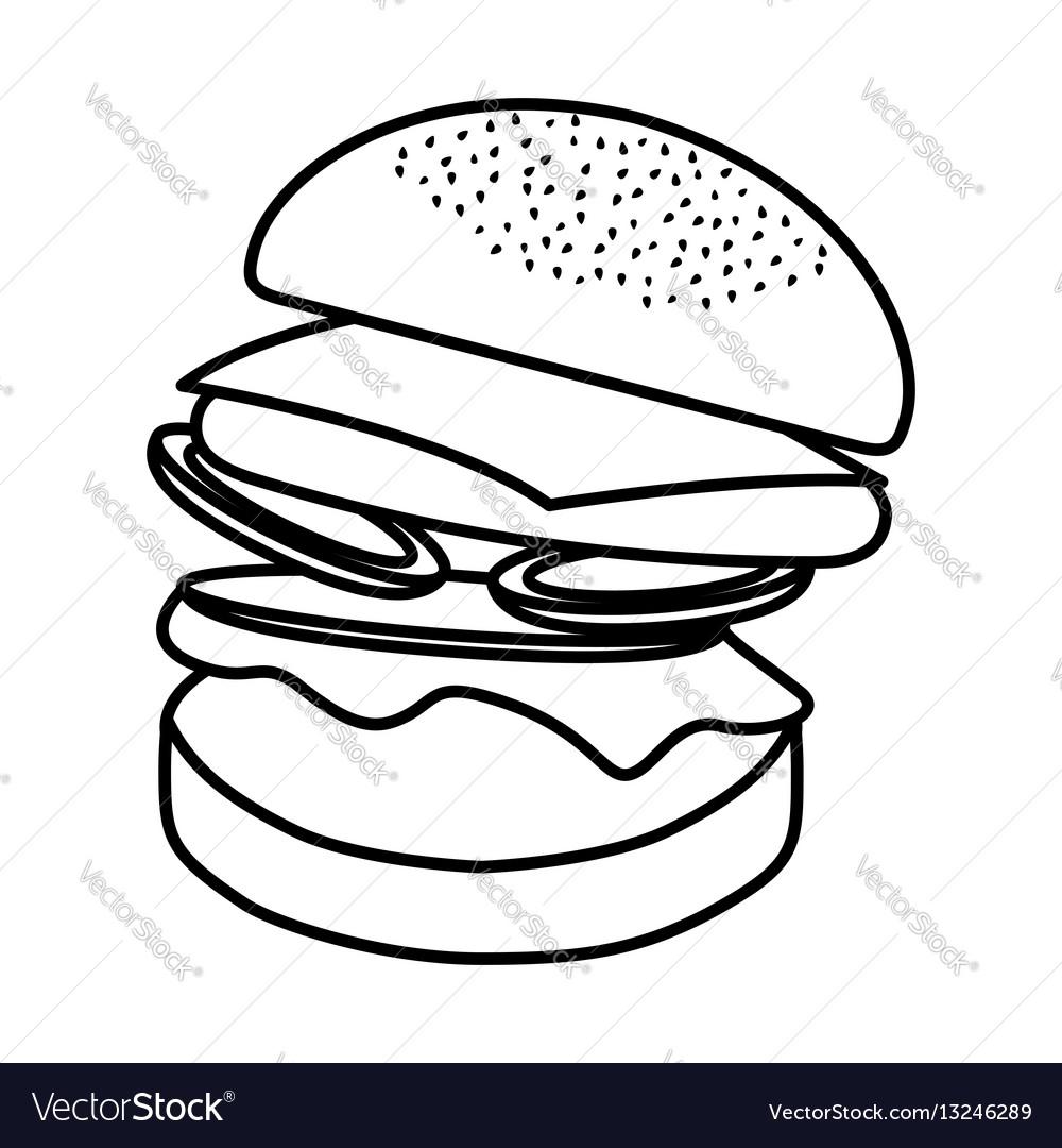 Hamburger fast food icon