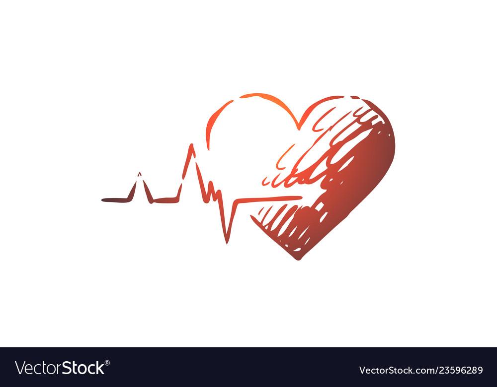 Health heart care heartbeat cardiogram concept