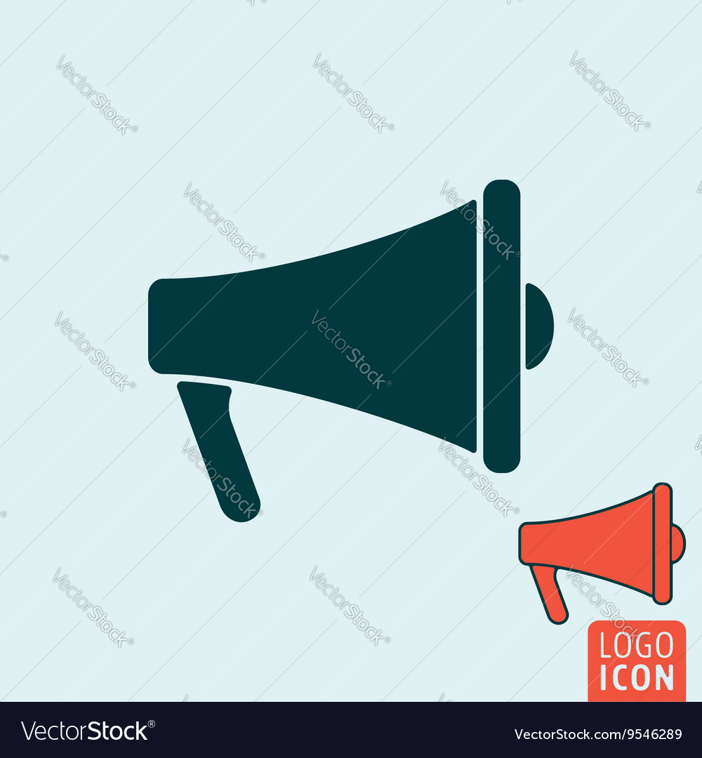 Megaphone icon isolated vector image