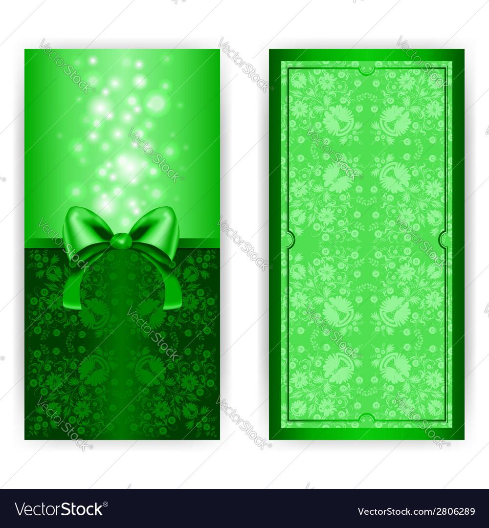 Royal invitation card with bow royalty free vector image royal invitation card with bow vector image stopboris Images