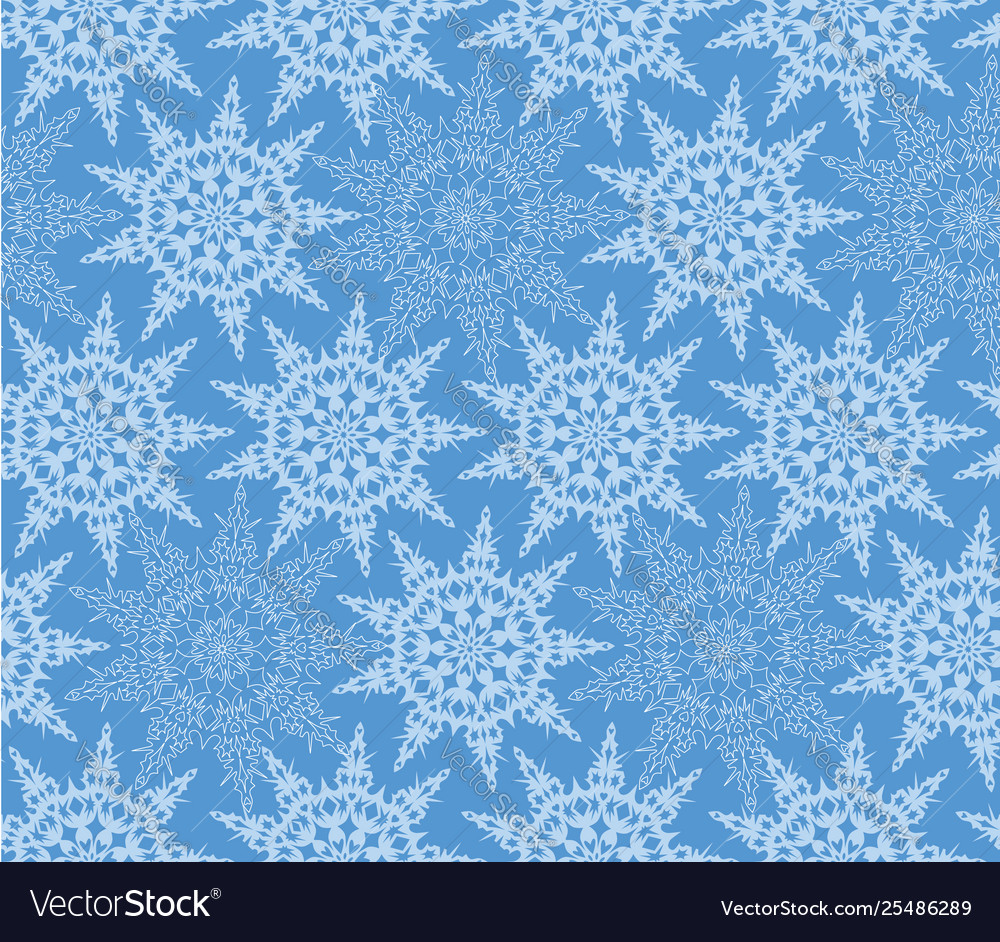 Snow seamless pattern winter holiday snowflakes