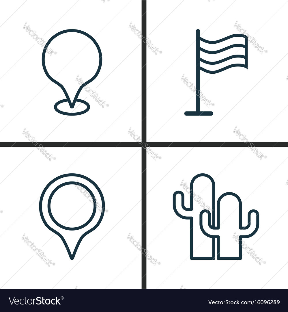 Travel icons set collection of pin map pointer