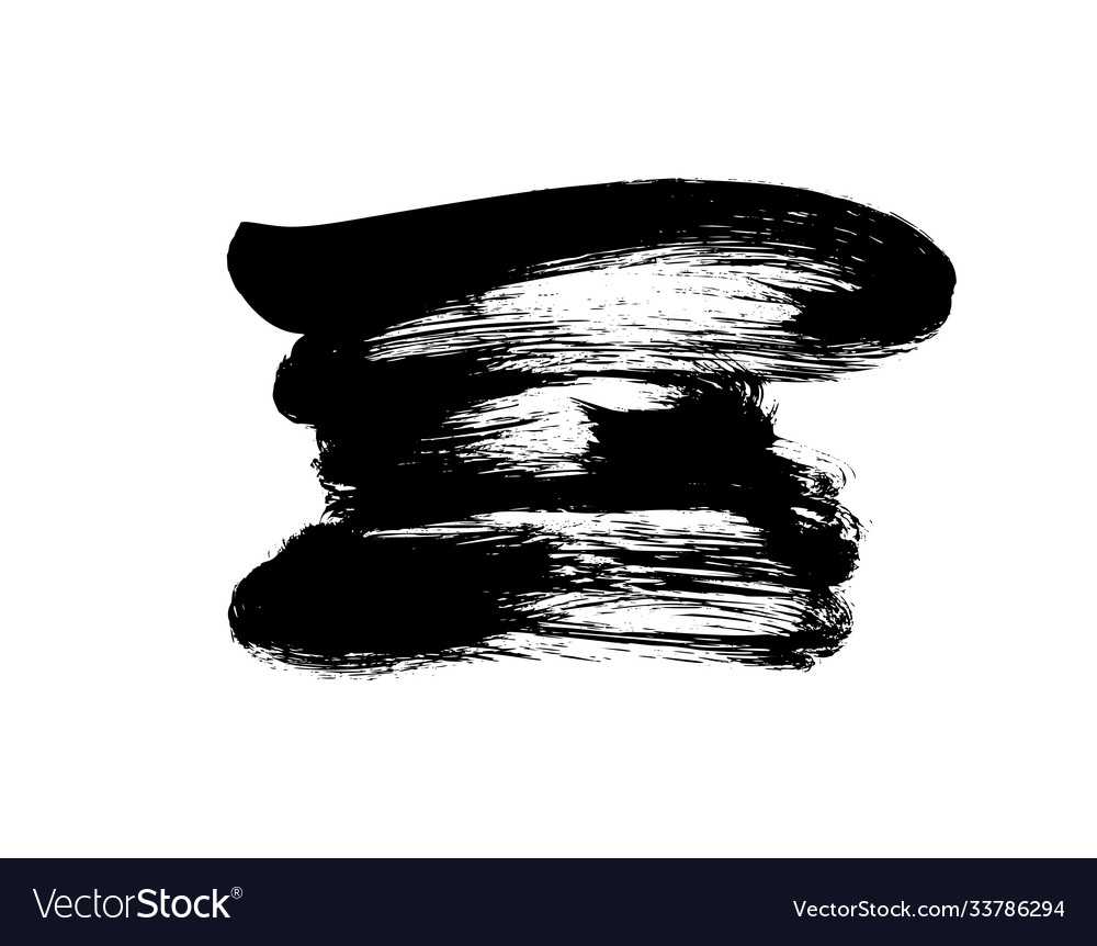 Black paint ink brush stroke or shape