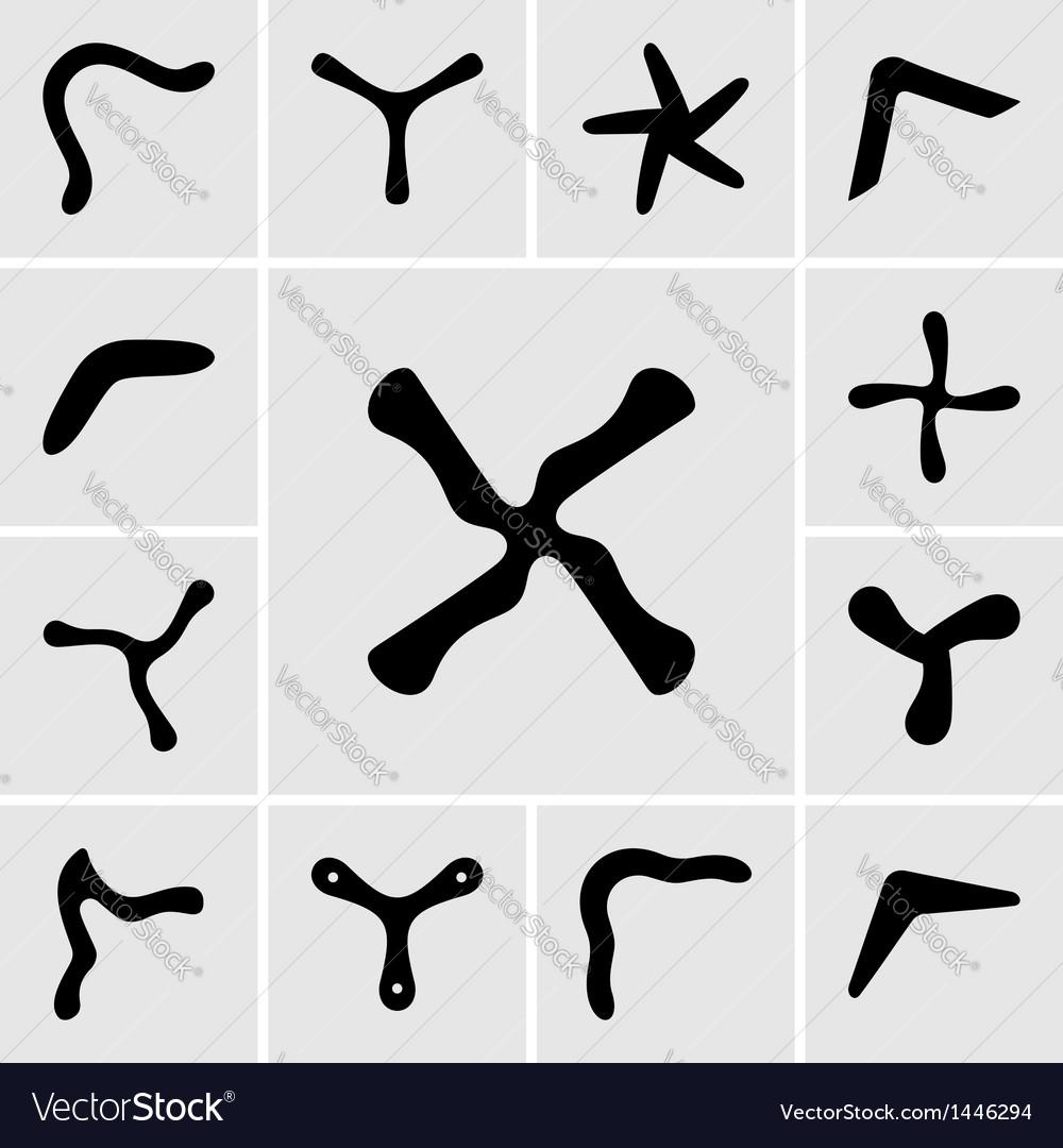 Boomerangs vector image
