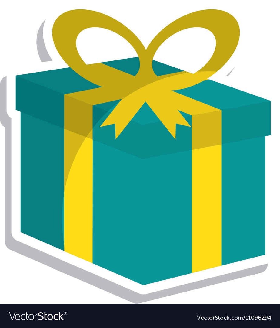 Giftbox Birthday Present Isolated Icon Royalty Free Vector