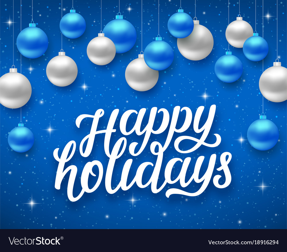 Happy Holidays Card With Season Greetings Vector Image