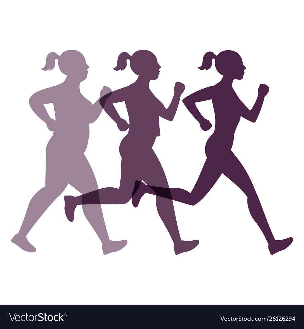 Jogging weight loss woman