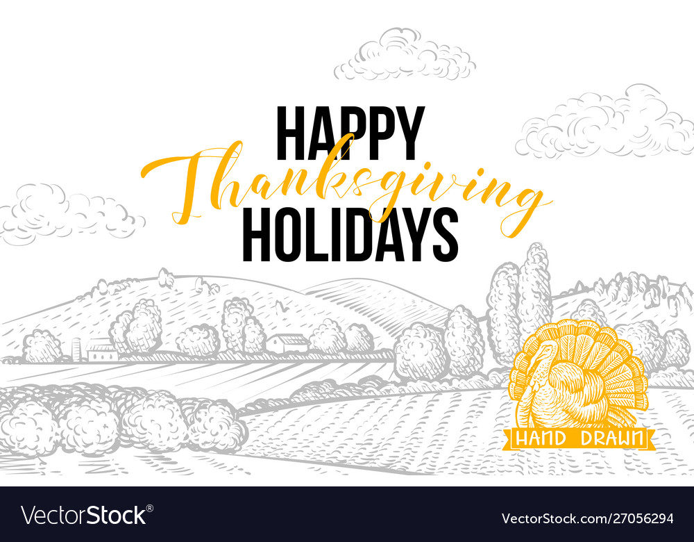 November holiday congratulations postcard template