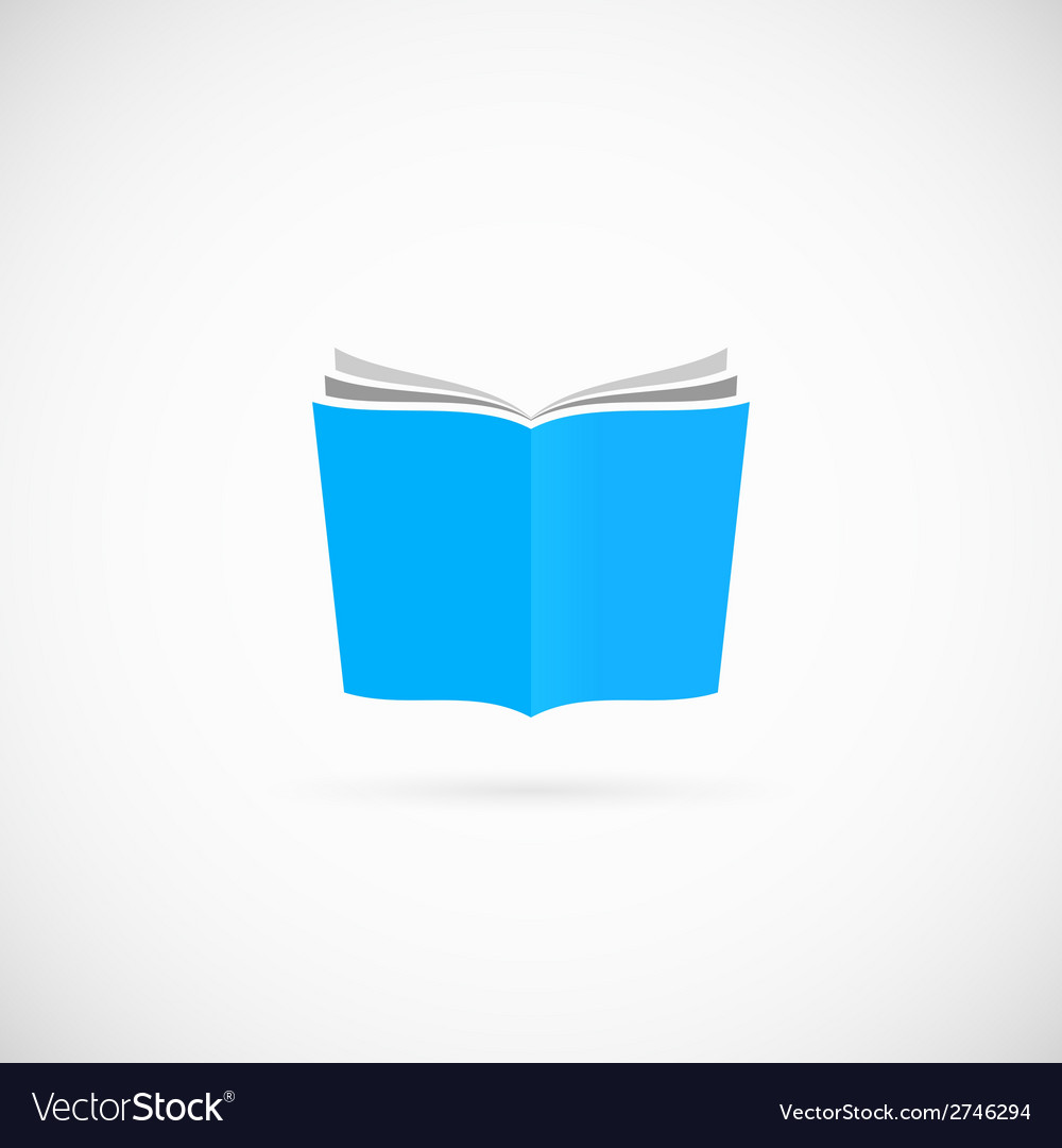 Open Book Symbol Icon or Logo Template