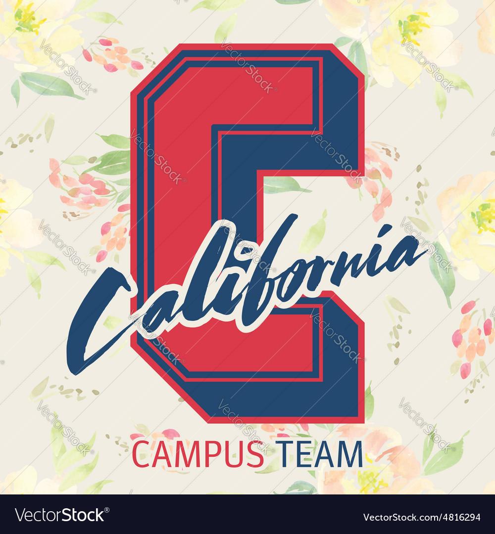 Print for T-shirt California Seamless pattern