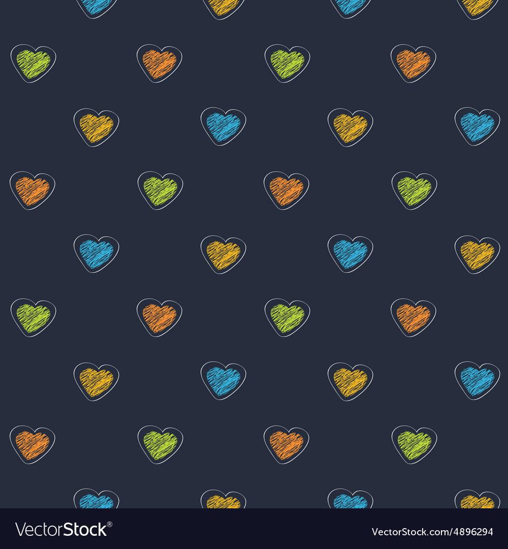 Scribble heart dark