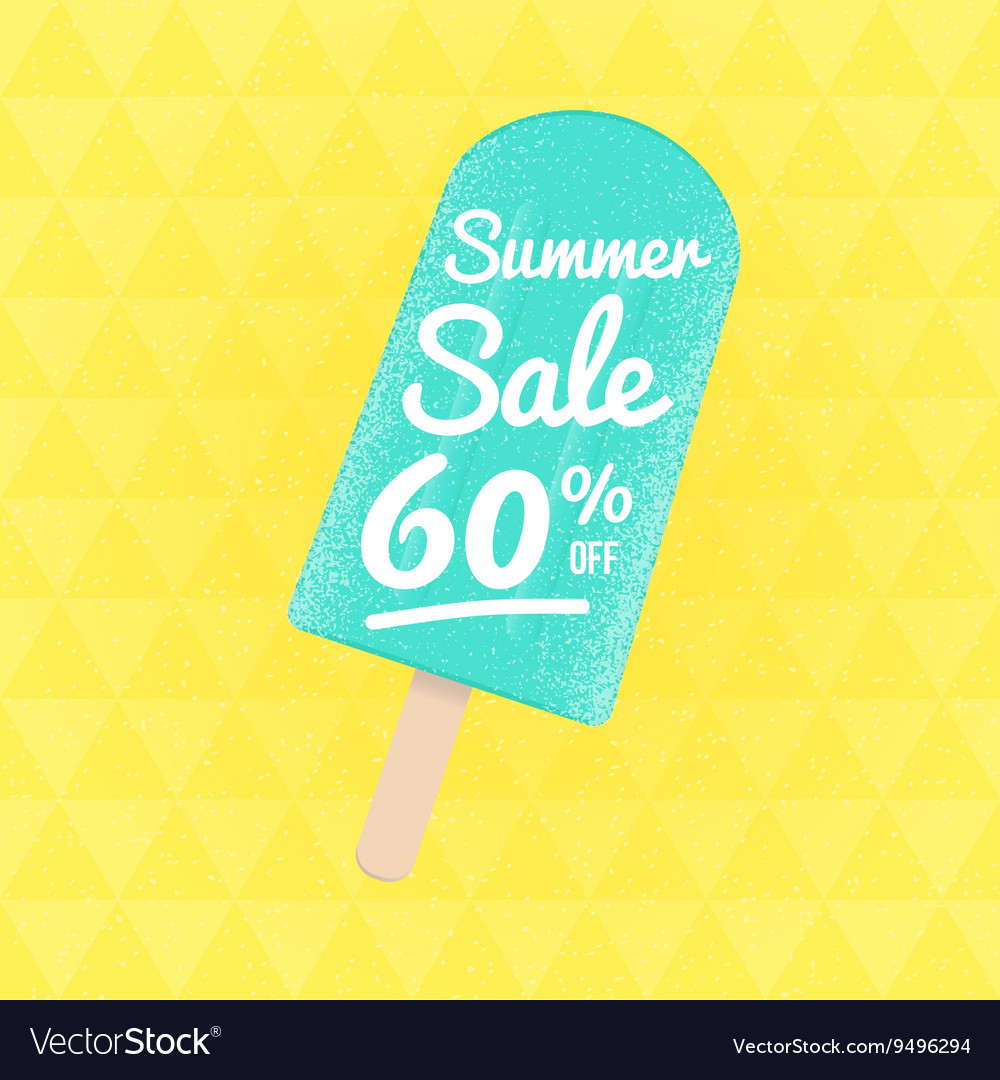 Summer Sale 60 per cent off vector image