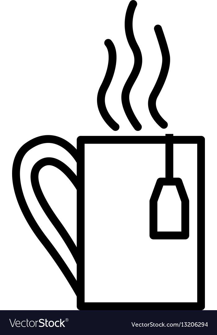 Tea cup linear icon