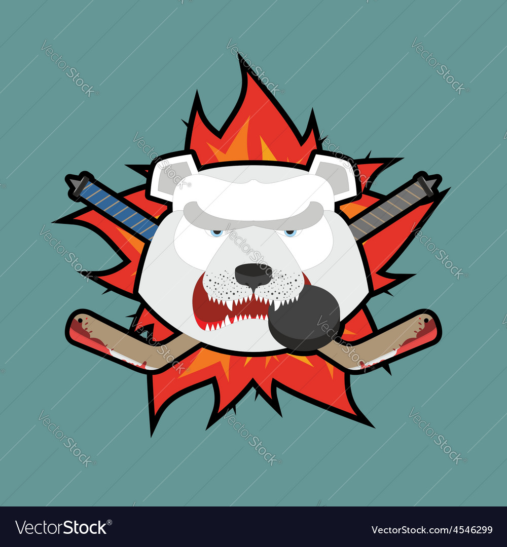 Bear Hockey Logo