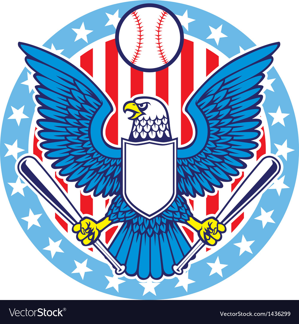 Eagle mascot of baseball