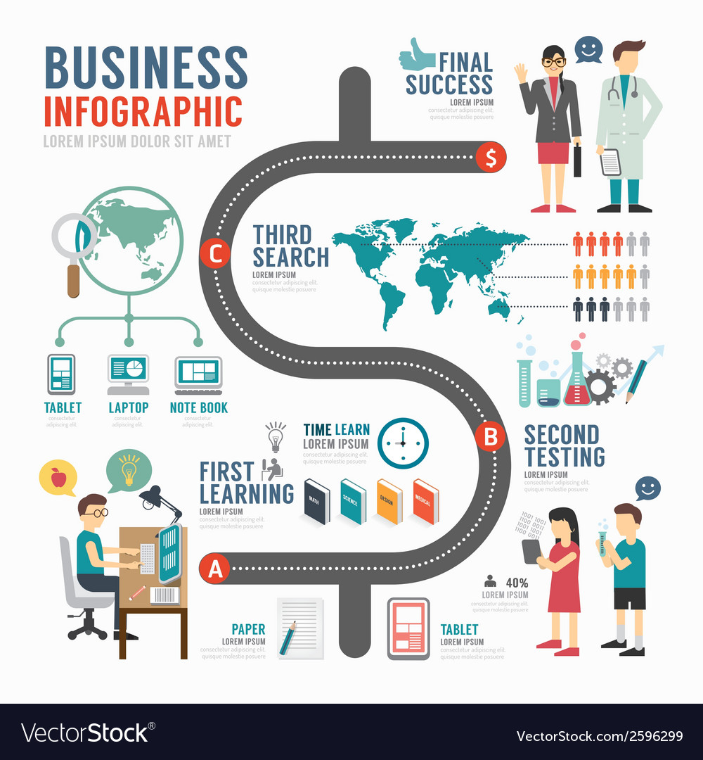 Infographic bussiness template design concept