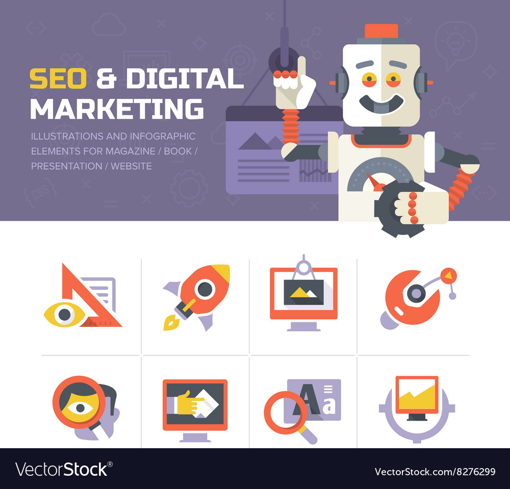 SEO Digital Marketing Icons