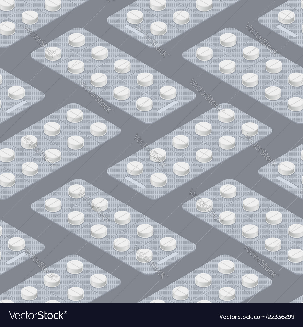 Tablets blister seamless pattern medical pill