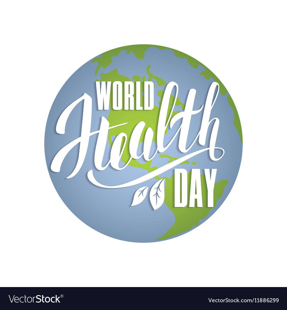World health day concept with planet Earth