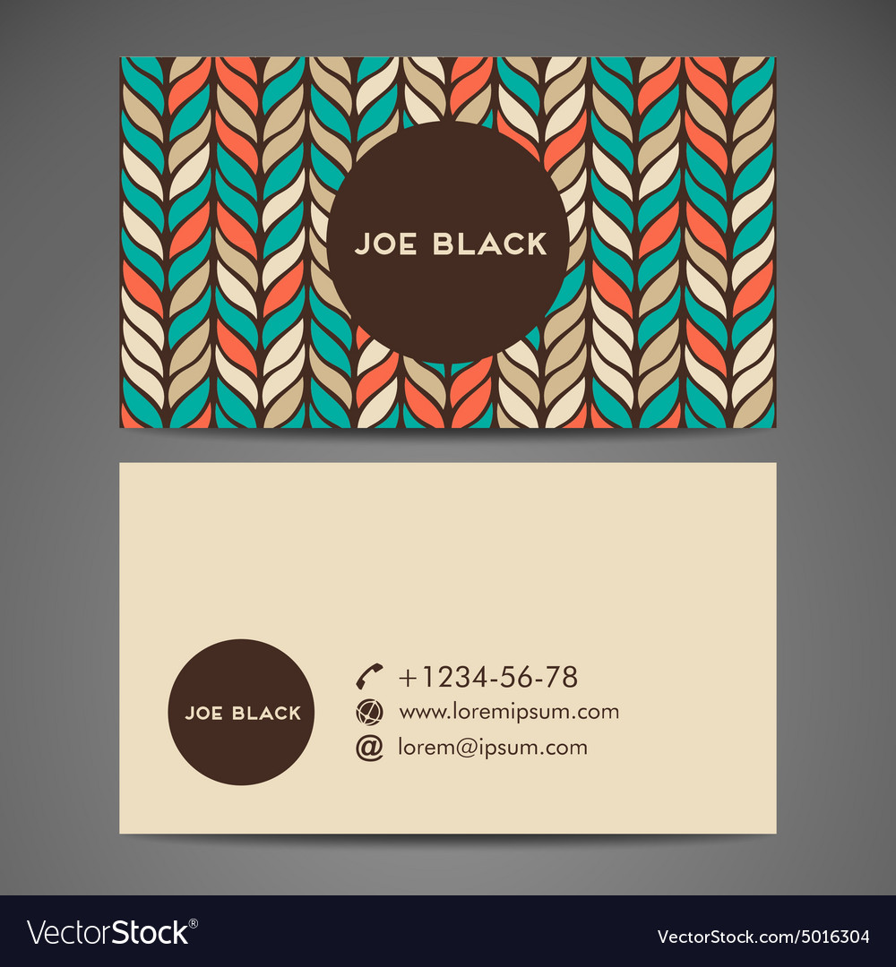 Business cards vintage decorative elements vector image reheart Gallery