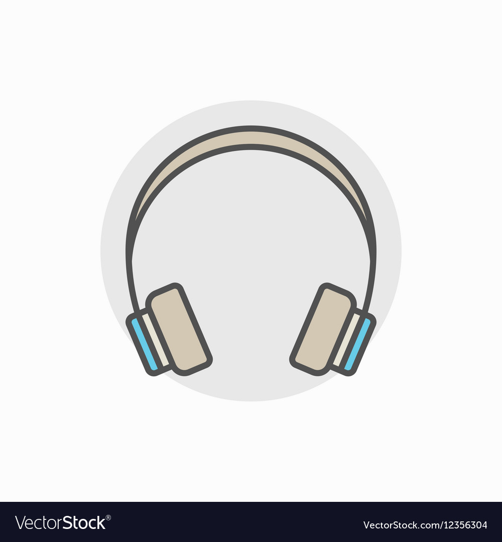 Colorful headphone icon vector image