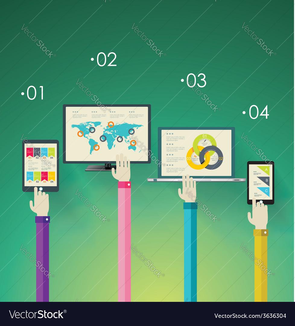 Flat design modern icons set for mobile apps