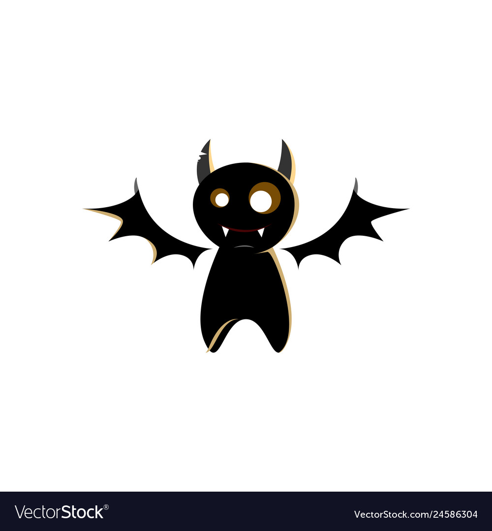 Halloween bat character design