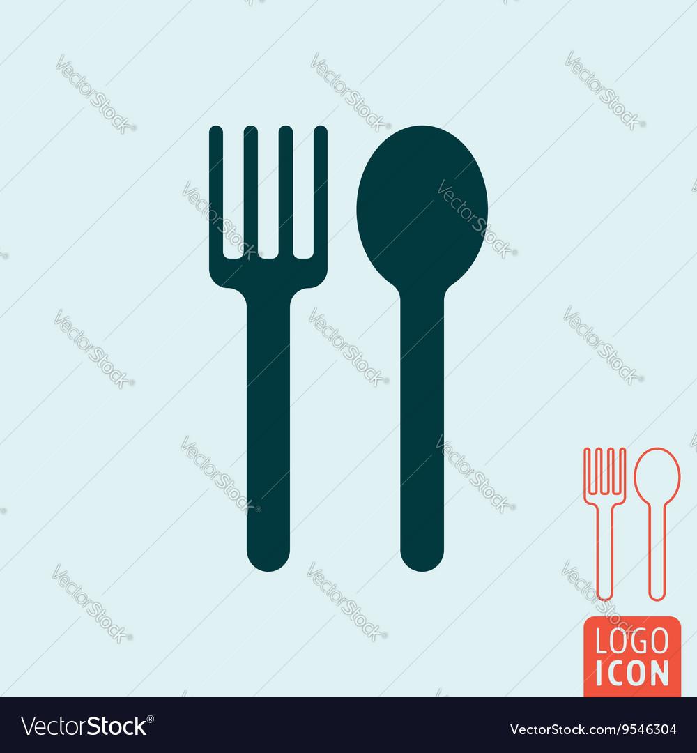 Spoon fork icon vector image