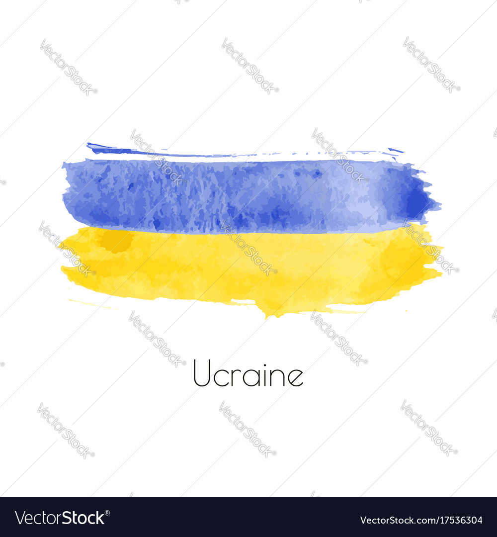 Ukraine watercolor national country flag icon