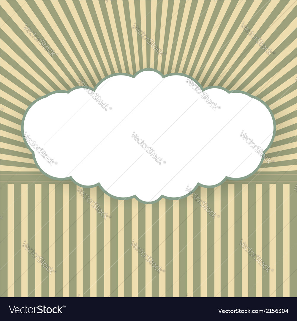 Vintage background with form a cloud