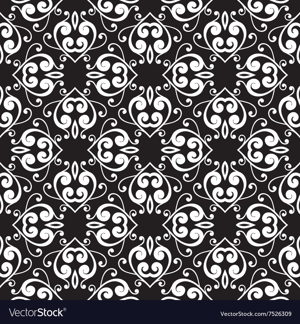 Abstract monochrome seamless hand-drawn pattern