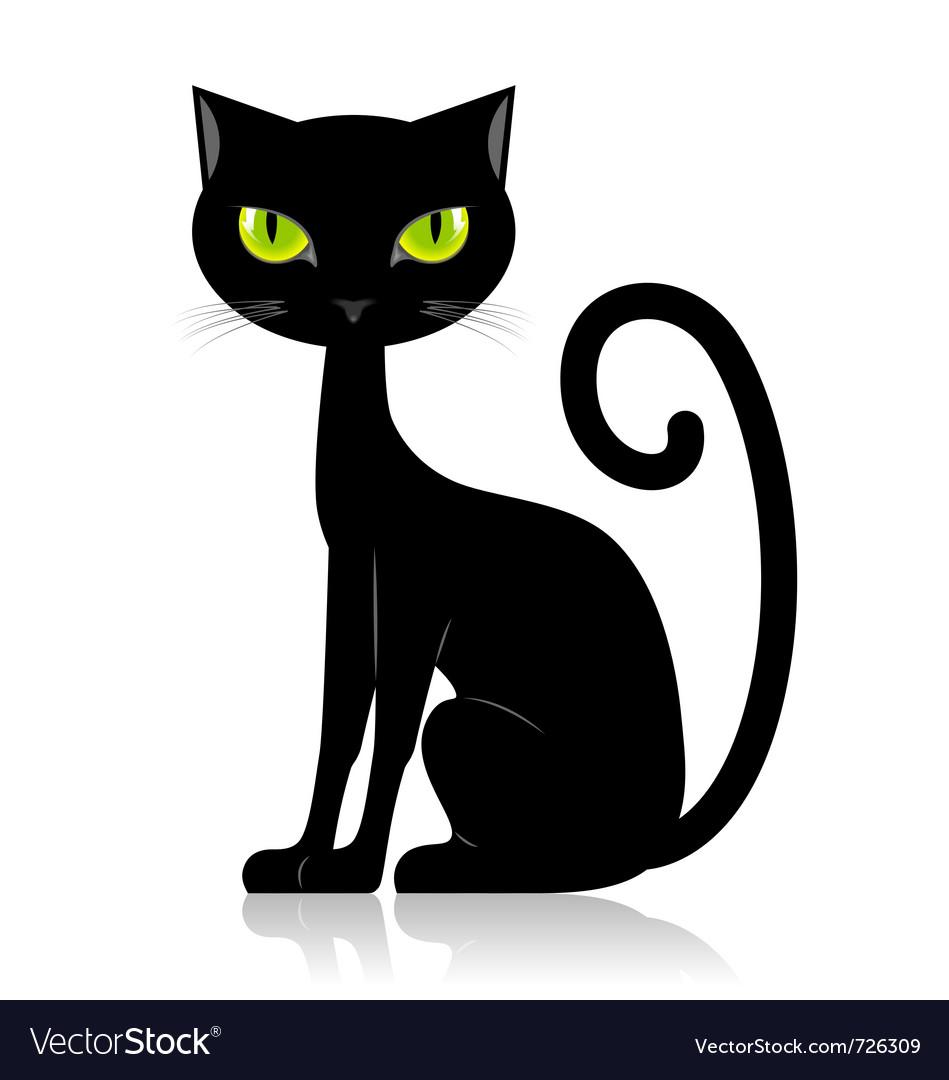 Black Cat Royalty Free Vector Image Vectorstock