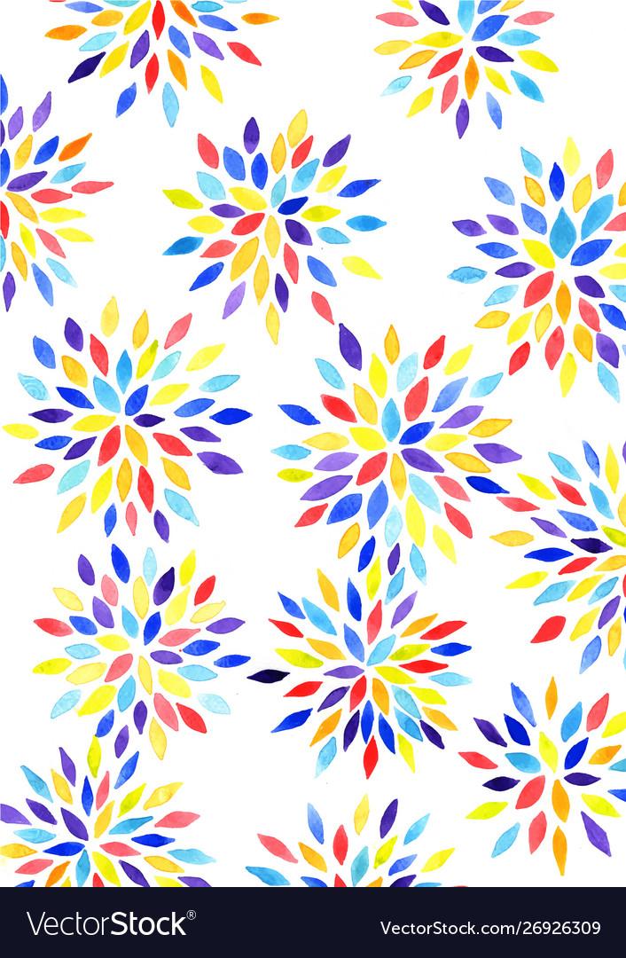 Chrysanthemum flower watercolor hand painting
