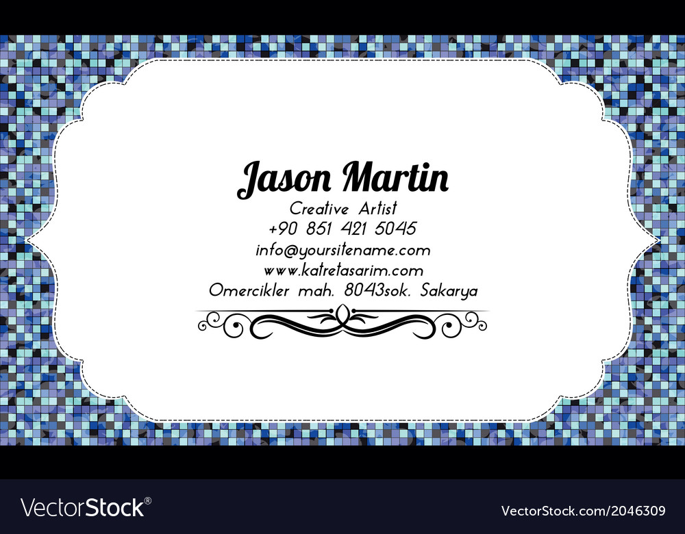 Coloful abstract business card vector image