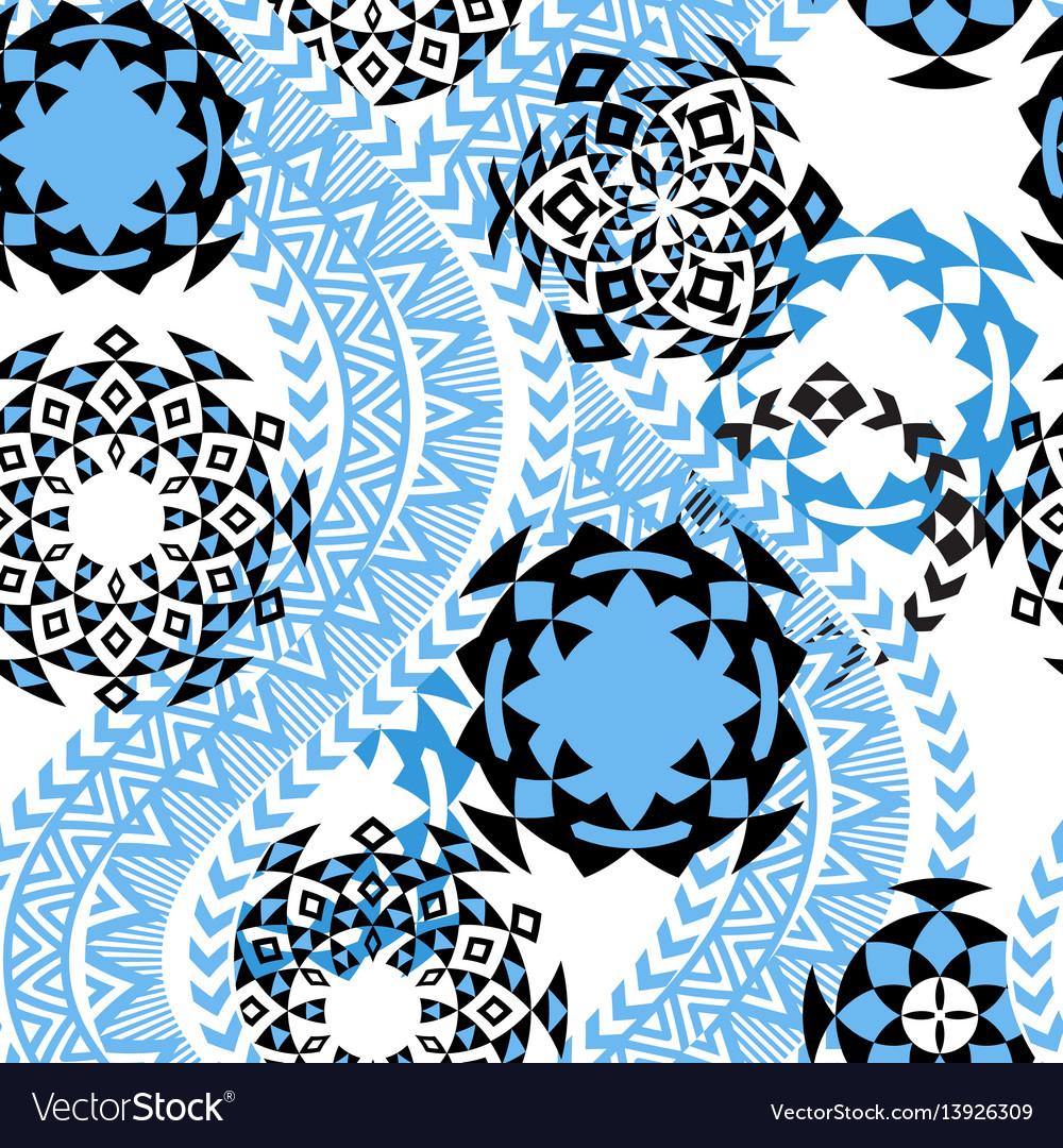 Ethnic background tribal seamless pattern