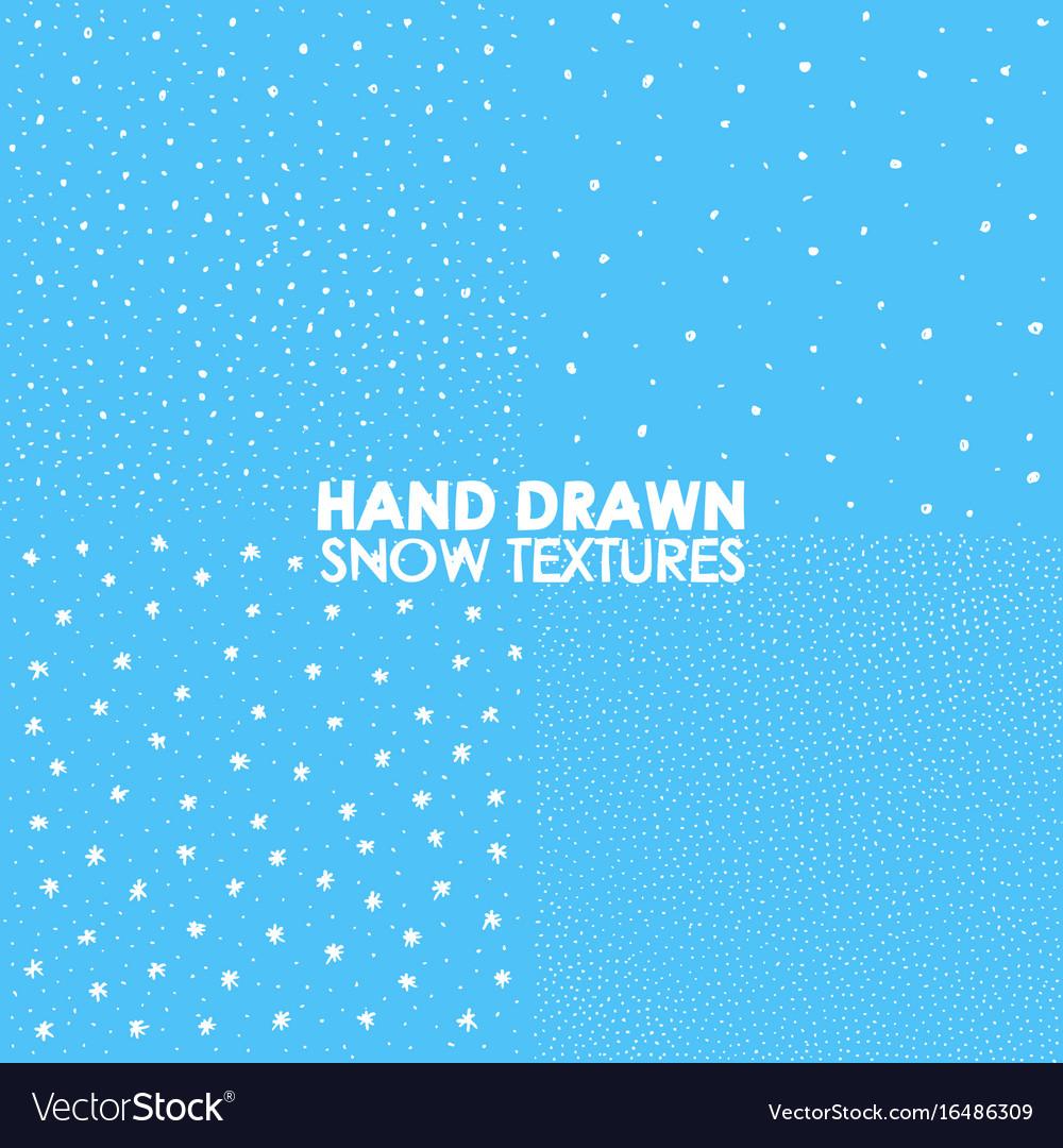 Falling snow seamless pattern white splash on