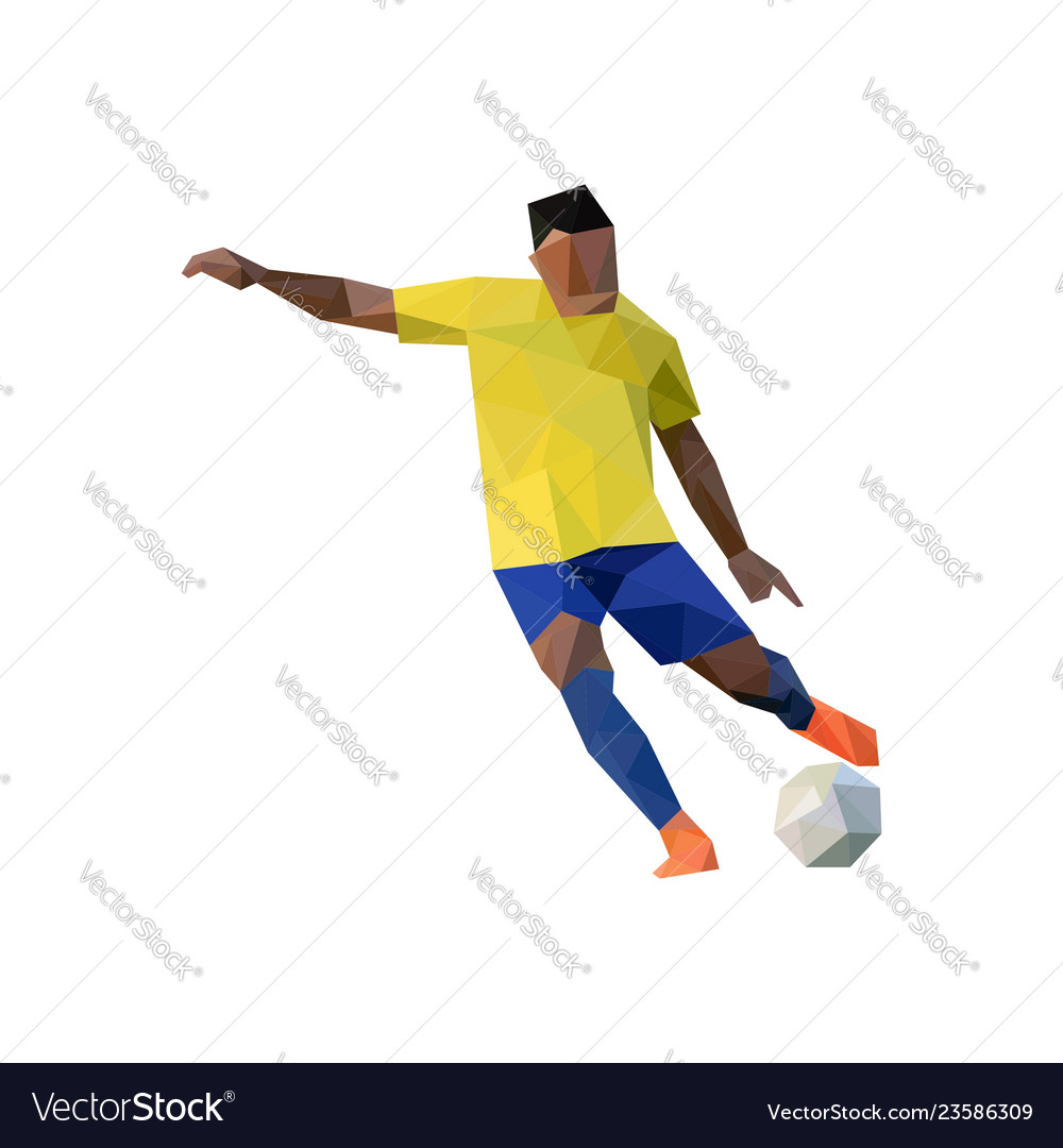 Football player in low poly art