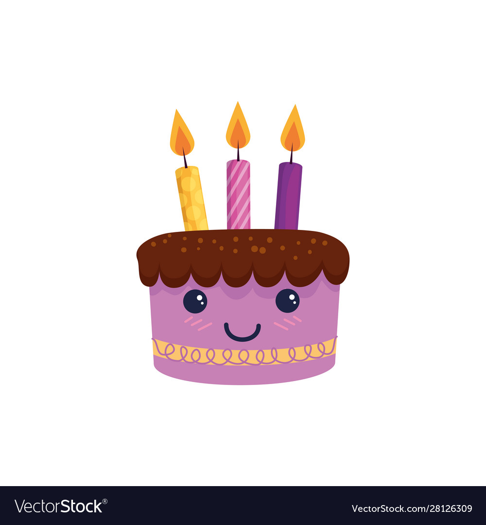 Happy Birthday Cake Cartoon Design Royalty Free Vector Image