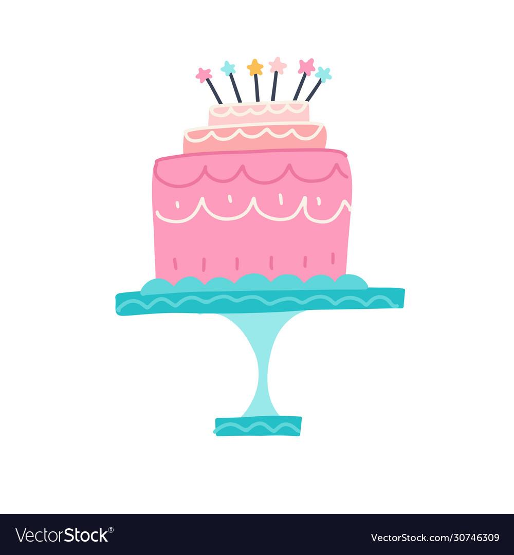 Happy birthday cake party and celebration design