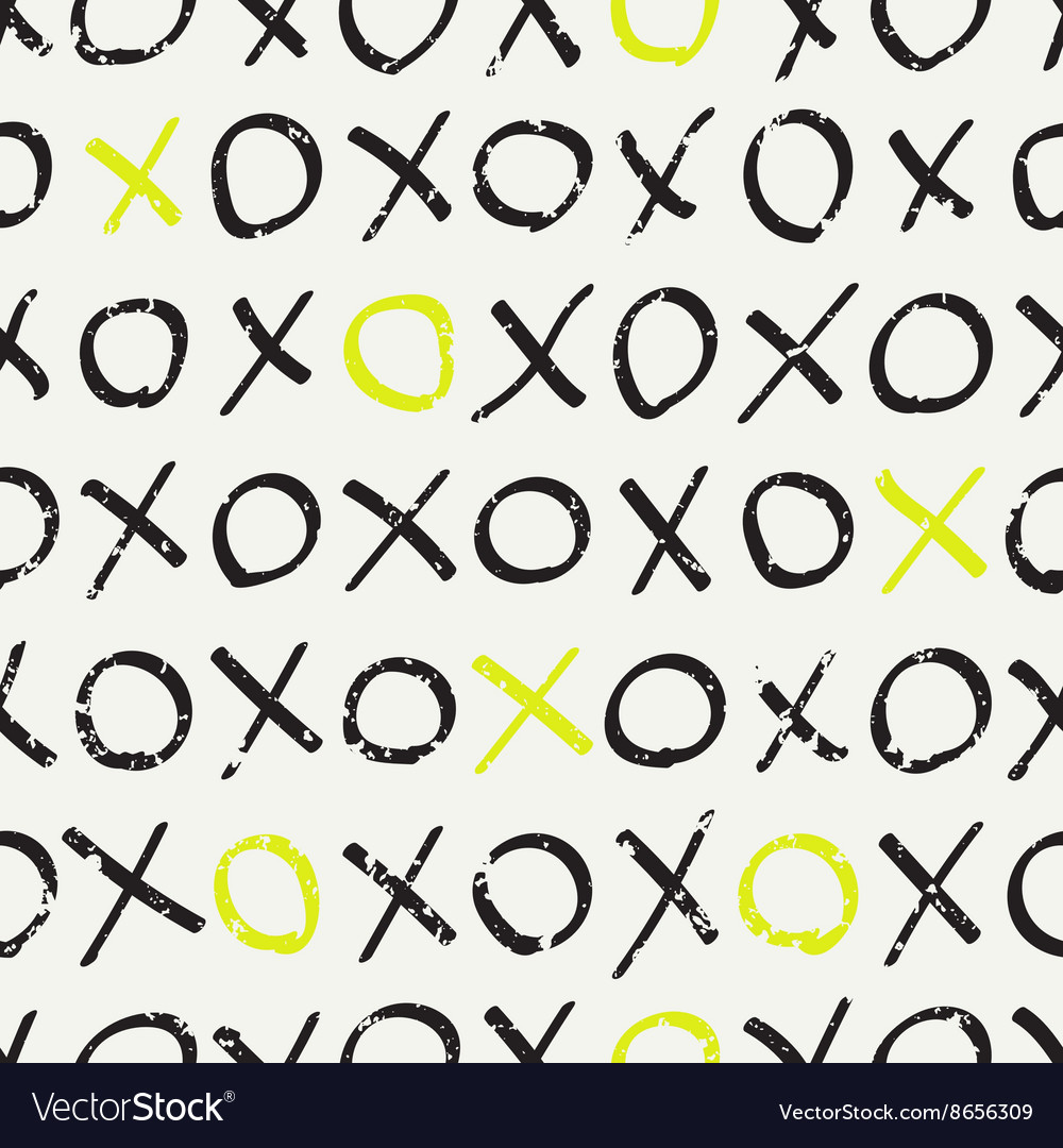 Seamless pattern with tic-tac-toe