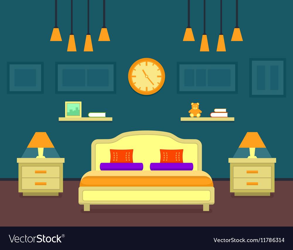 Bedroom cozy interior