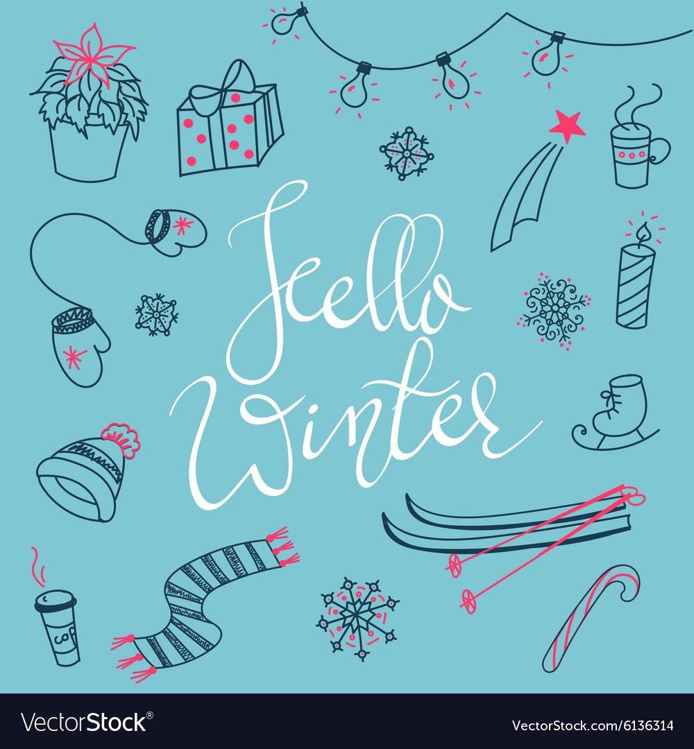 Hello winter doodles