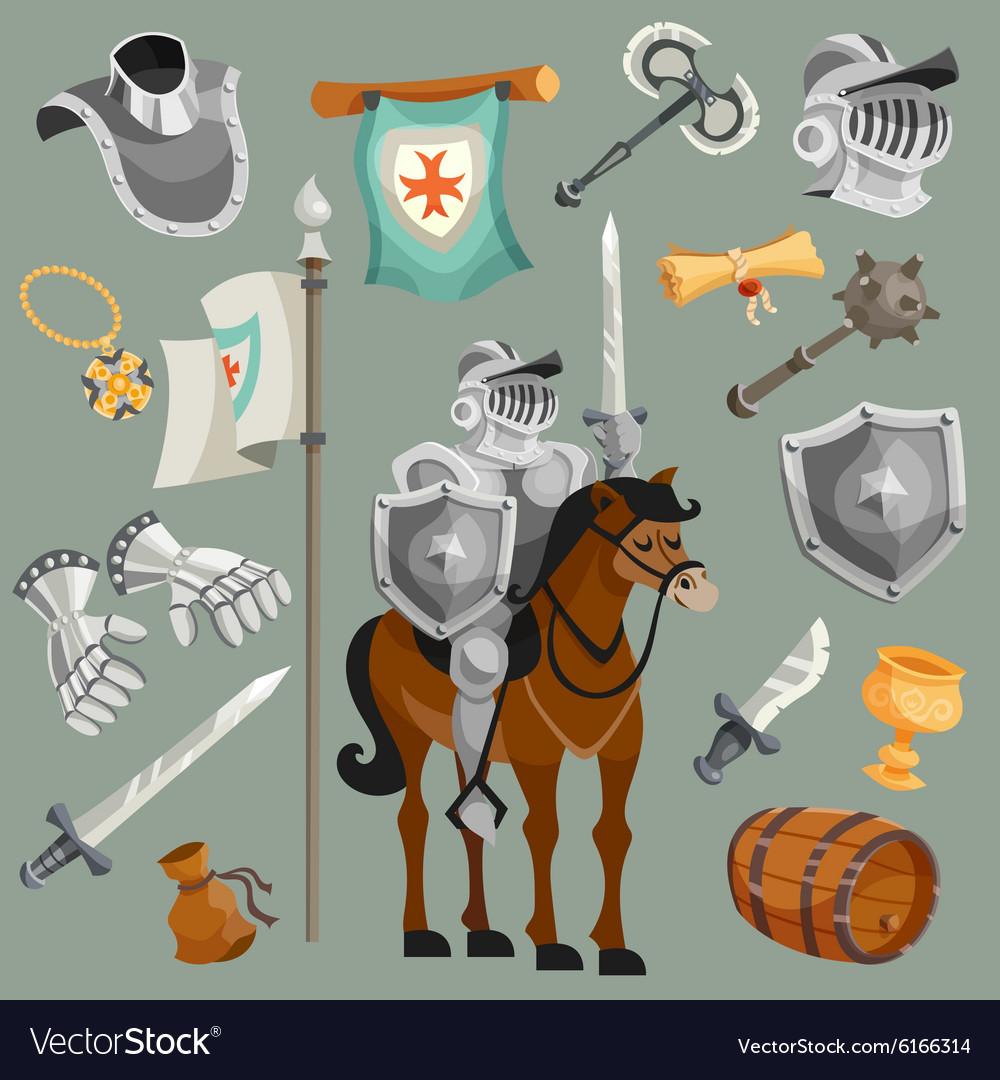 Knights Cartoon Set